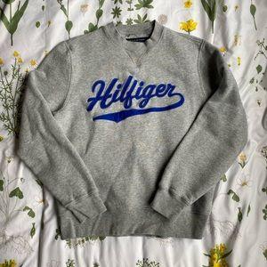 Grey Tommy Hilfiger Crewneck Sweater